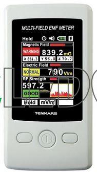 TENMARS TM-190 měřič elektrosmogu, gaussmeter, ochrana před elektrosmogem