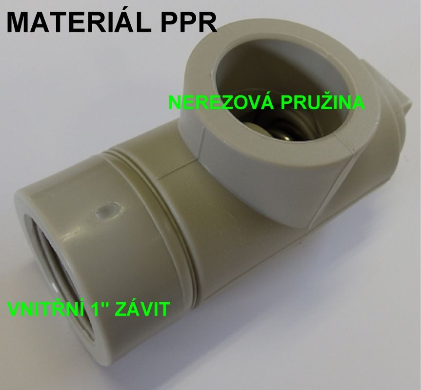 PV2 Pojistný ventil plastový, 1